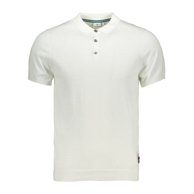 Gotstyle - Blue Industry Polos Solid Jersey Knit Polo - White
