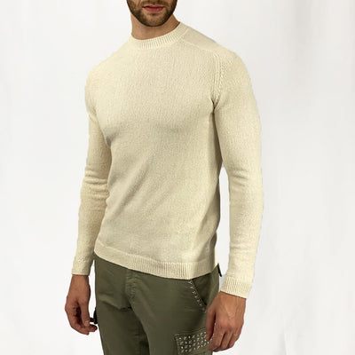 Gotstyle - Kiefermann Sweaters Boucle Knit Crew Sweater - Off White