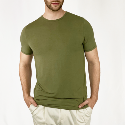 Gotstyle - Kiefermann T-Shirts Cashmere Blend Crew Tee - Army