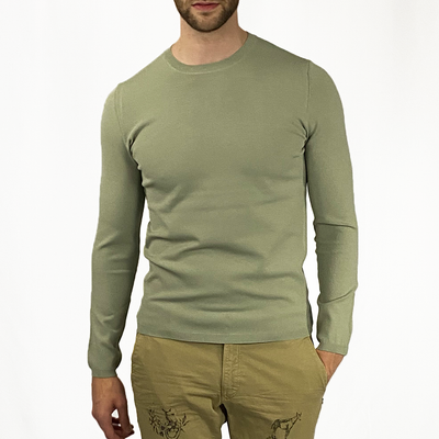 Gotstyle - Kiefermann Sweaters Tech Crepe Knit Crew Sweater - Light Green