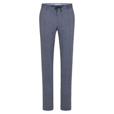 Gotstyle - Blue Industry Pants Slim Fit Jersey Stretch Crosshatch Texture Pant
