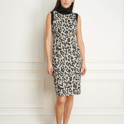 Leopard Jacquard Sleeveless Dress - Gotstyle The Menswear Store