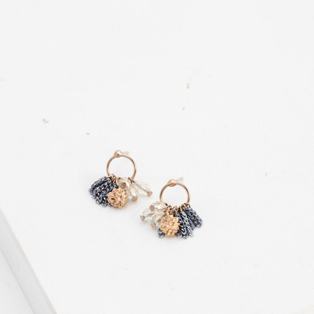 Lover's Tempo Earrings Jardin Cluster Hoop Earrings - Gotstyle The Menswear Store