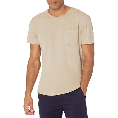 Gotstyle - Paige T-Shirts Kenneth Crew Neck Chest Pocket Tee - Khaki
