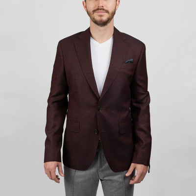 Two Tone Dobby Angelico Wool Blazer - Gotstyle The Menswear Store