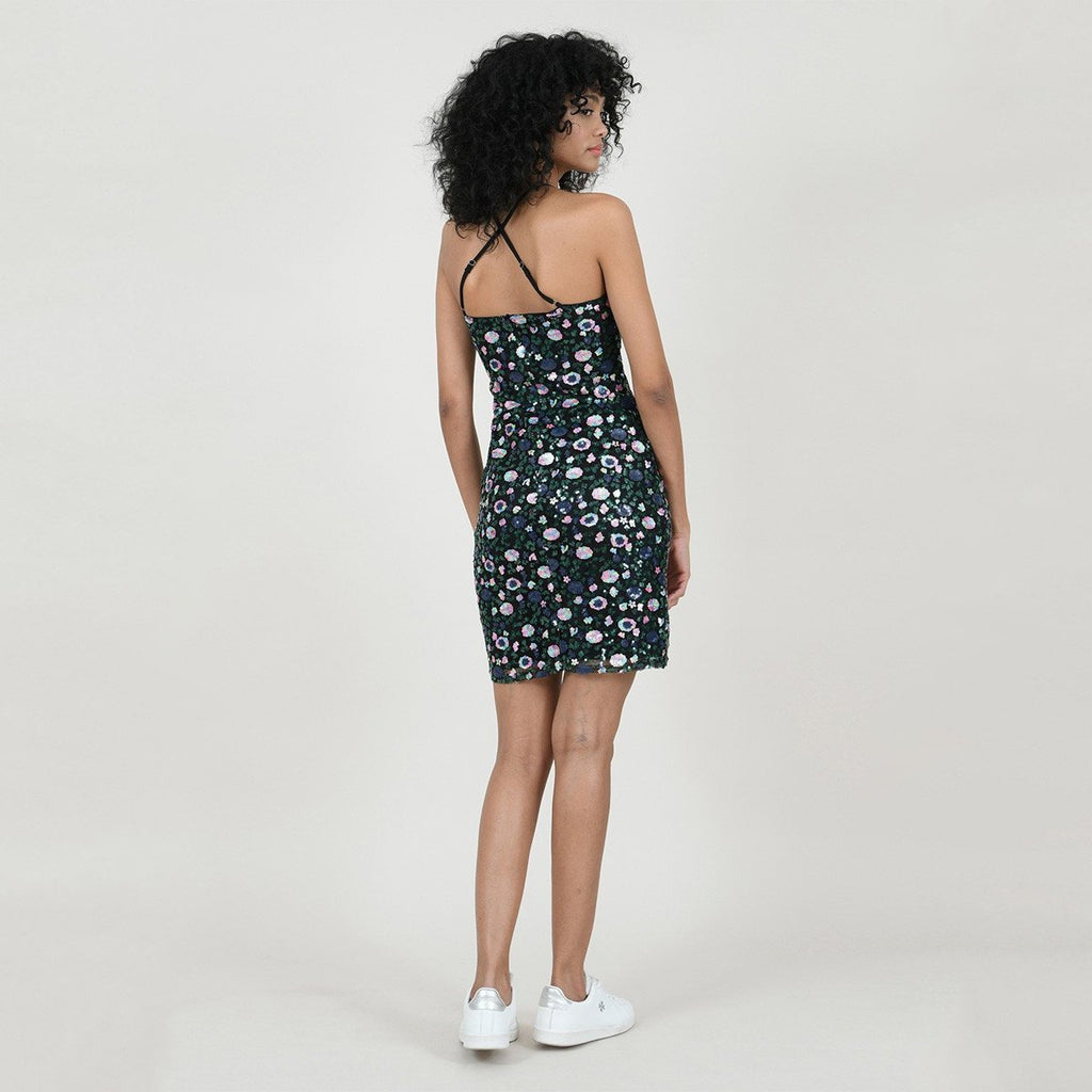 Sequined Pattern Strap Dress - Gotstyle The Menswear Store
