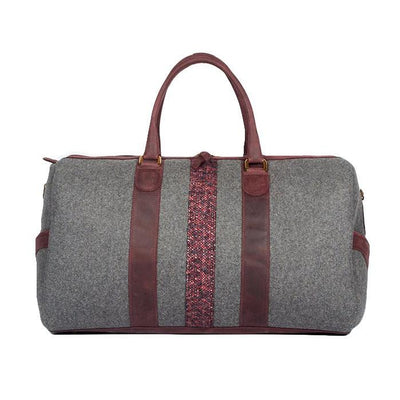 Monte & Coe Bags Wool Ossington Weekender in Ox Blood - Gotstyle The Menswear Store