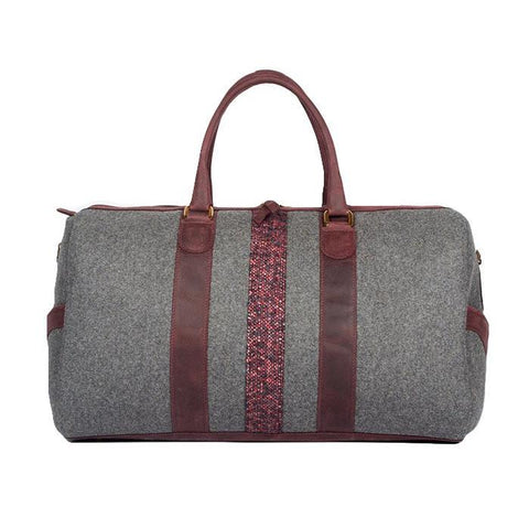 Monte & Coe MA - Leather - Bags Wool Ossington Weekender in Ox Blood - Gotstyle The Menswear Store
