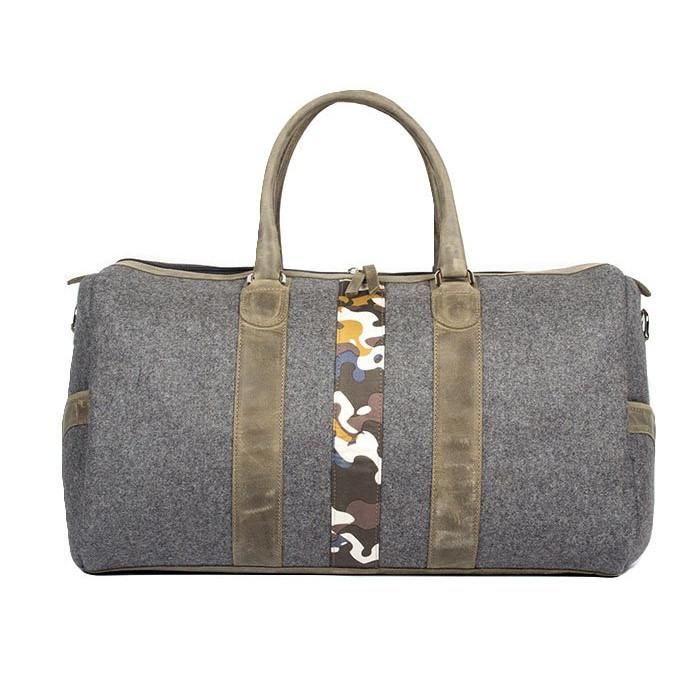 Monte & Coe MA - Leather - Bags Wool Ossington Weekender in Olive Green - Gotstyle The Menswear Store