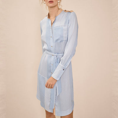 Mos Mosh Dresses Stripe Block Shirt Dress - Gotstyle The Menswear Store