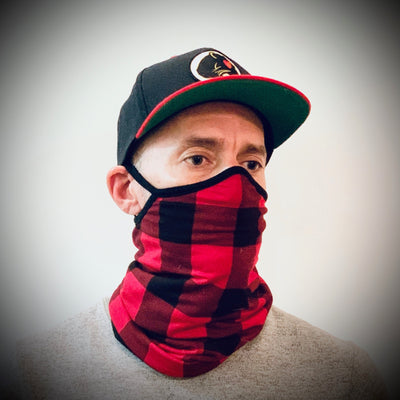 Original Copy Mask Turtleneck Scarf Pull Up Face Mask - Buffalo Checks - Gotstyle The Menswear Store
