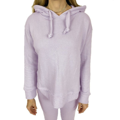 Gotstyle - Ocean Drive Sweatshirts Rounded Raw Hem Hoodie - Lilac