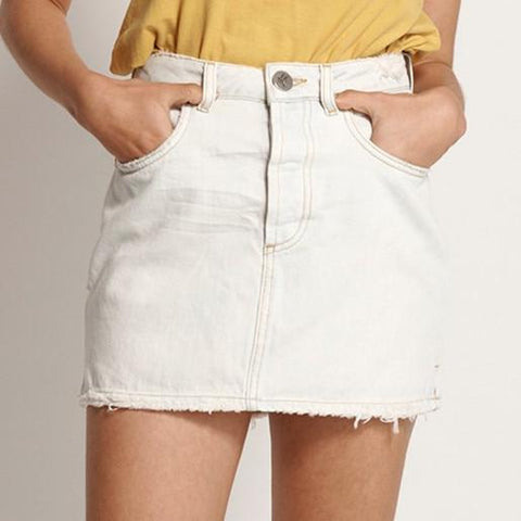 One Teaspoon Bottoms Brando 2020 Mini High Waist Denim Skirt - Gotstyle The Menswear Store