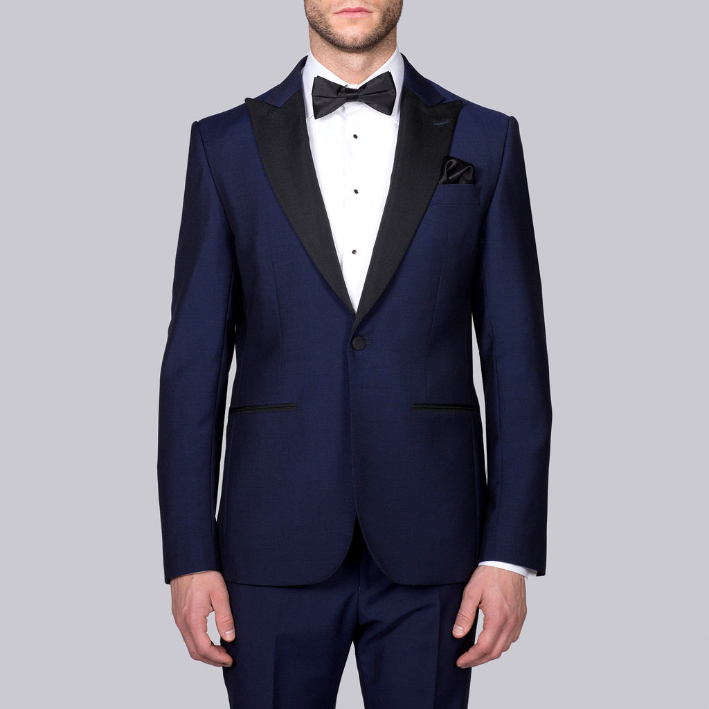Hardy Amies MT - Tuxedos Peak Lapel Wool/Mohair Blend Tuxedo - Gotstyle The Menswear Store