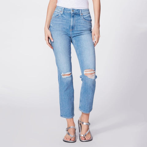 Paige Denim Sarah Straight Ankle Jean - Solera Destructed - Gotstyle The Menswear Store