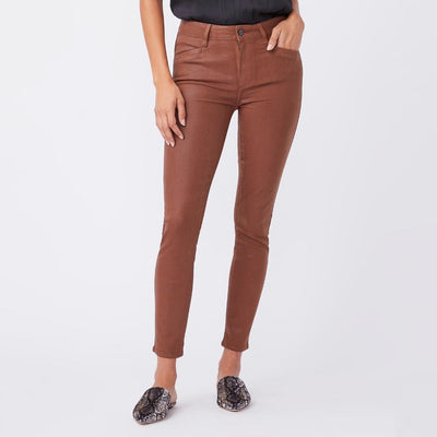 Paige Denim Hoxton Ankle Cognac Luxe Coating - Gotstyle The Menswear Store