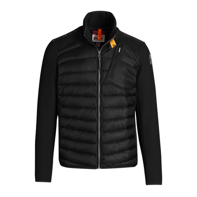 Parajumpers Jackets Jayden Down-Filled Jacket with Honeycomb Fleece Sleeves - Black - Gotstyle The Menswear Store