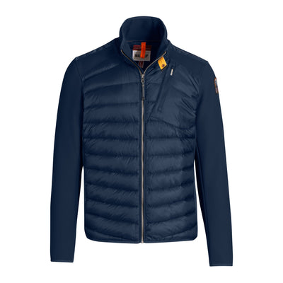 Parajumpers Jackets Jayden Down-Filled Jacket with Honeycomb Fleece Sleeves - Blue - Gotstyle The Menswear Store