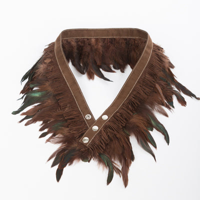 Gotstyle - Miss Matahari Belts Feather n' Fringe Belt - Chocolate / Suede