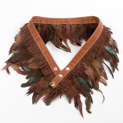 Miss Matahari Belts Feather n' Fringe Belt - Russet / Suede - Gotstyle The Menswear Store