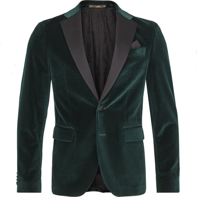 Velvet Dinner Jacket w Contrast Lapels - Gotstyle The Menswear Store
