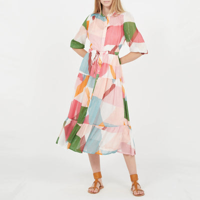 Gotstyle - Suncoo Dresses Graphic Print Shirt Dress with Lurex Details