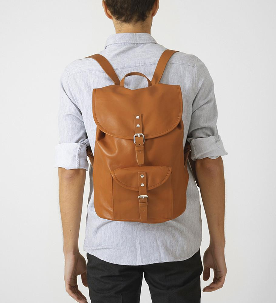 Helmer Leather Backpack - Gotstyle The Menswear Store