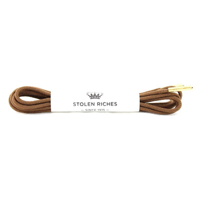 Gotstyle - Stolen Riches Gifts Fun Coloured Shoe Laces - Gipper Brown