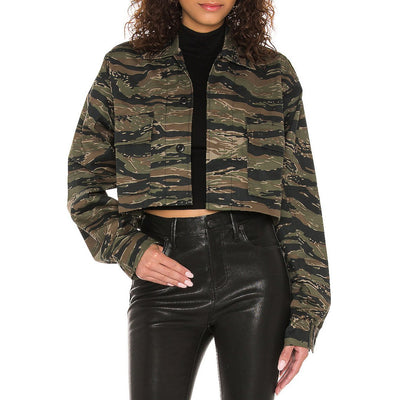 SR+ Ronny Kobo Jackets Super Crop Camo Jacket - Gotstyle The Menswear Store