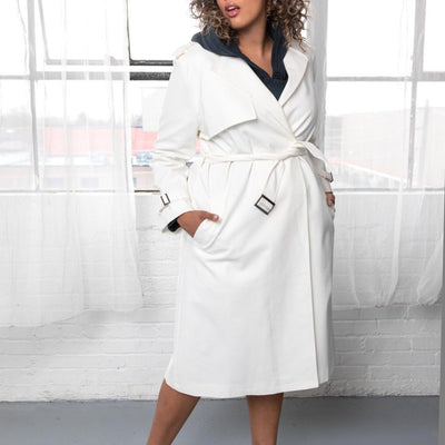 Gotstyle - Hilary MacMillan Coats Classic Trench Coat - White