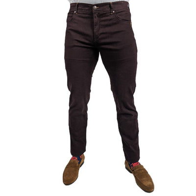 Gotstyle - Sand Copenhagen Pants Soft Stretch 5-Pocket Slim Fit Jeans - Burgundy