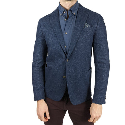 Wool / Silk Jersey Blazer - Blue - Gotstyle The Menswear Store