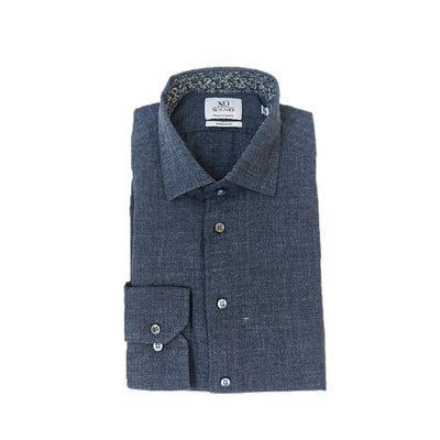 Sand Copenhagen Collar Shirts Vintage Denim Textured Woven Shirt - Gotstyle The Menswear Store