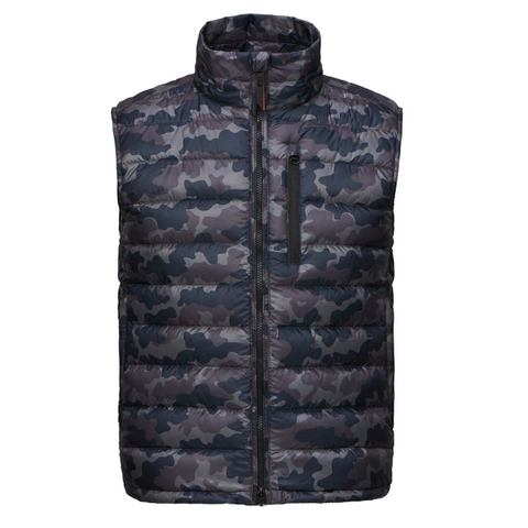 Swims MS - Outerwear - General Portland II Down-Filled Camo Vest - Gotstyle The Menswear Store