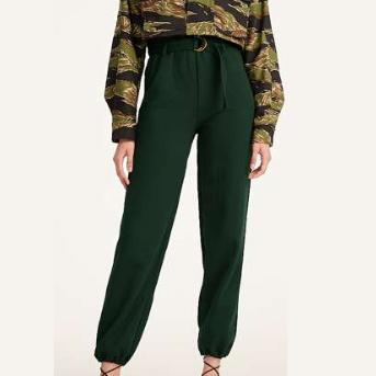 SR+ Ronny Kobo Joggers Sweatpants with Belt - Green - Gotstyle The Menswear Store
