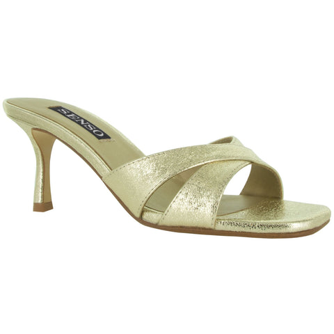 Senso Footwear Metallic Evening Heeled Mule - Gotstyle The Menswear Store