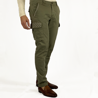 Gotstyle - Mason's Pants Slim Fit Cargo Pant with Stud Detailing