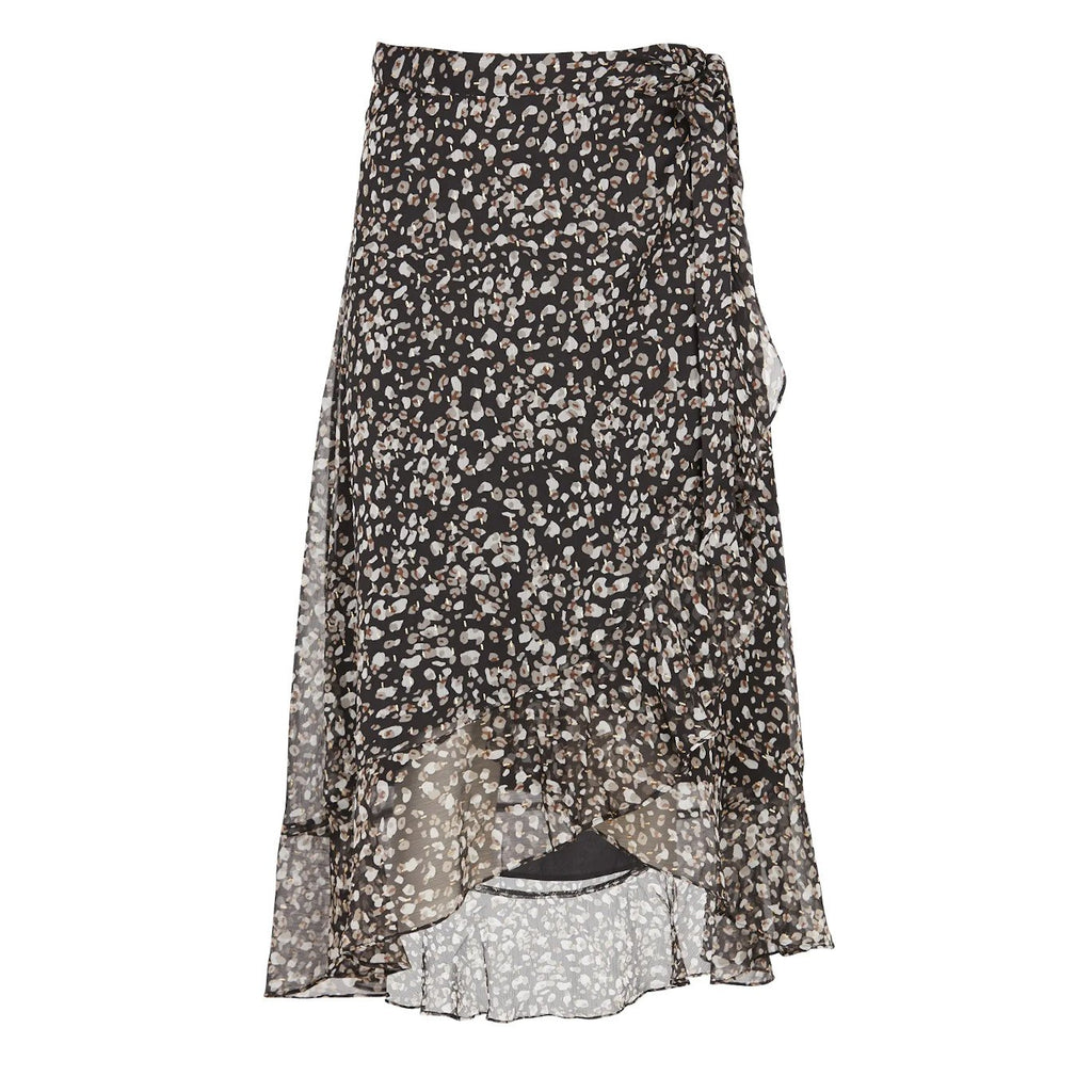 Suncoo Bottoms Florie Print Midi Wrap Ruffle Skirt - Gotstyle The Menswear Store