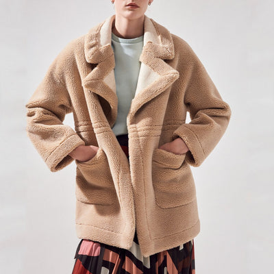 Suncoo Jackets Edwige Oversize Reversible Shearling Coat - Gotstyle The Menswear Store