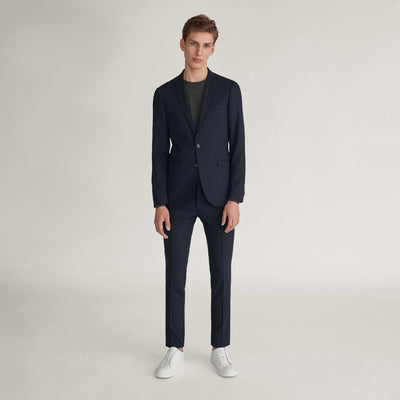 Tiger Of Sweden Suits Tiger of Sweden Solid Wool Slim Fit Suit Separates - Navy - Gotstyle The Menswear Store