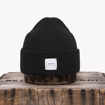 Gotstyle - Upstate Stock Hats Eco-Cotton Knit Watchcap - Black