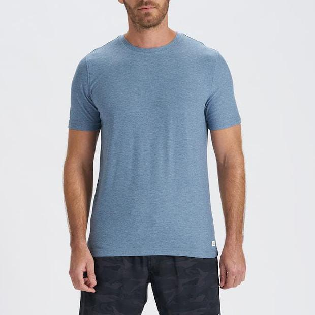 Vuori MS - Casual Tops - Tshirts Strato Tech Tee - Blue - Gotstyle The Menswear Store