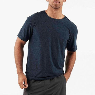 Vuori T-Shirts Strato Tech Tee - Navy - Gotstyle The Menswear Store