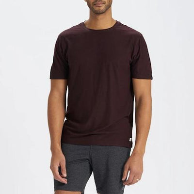 Vuori T-Shirts Strato Tech Tee - Brown - Gotstyle The Menswear Store