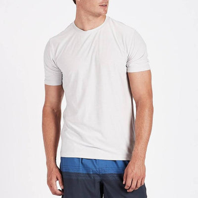 Vuori T-Shirts Strato Tech Tee - Light Grey - Gotstyle The Menswear Store
