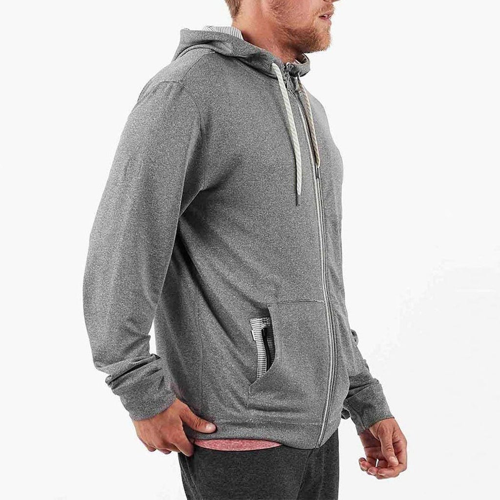Vuori MS - Sweaters - Casual Movement Hoodie - Grey - Gotstyle The Menswear Store
