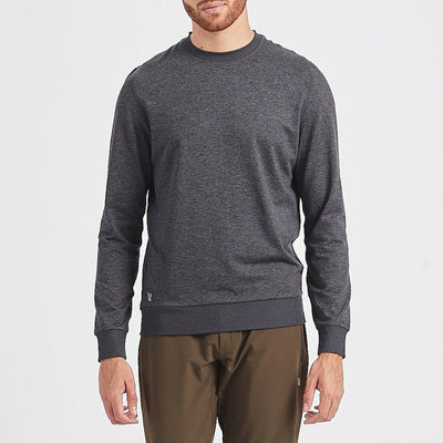 Vuori Sweatshirts Ponto Performance Crew Pullover - Charcoal - Gotstyle The Menswear Store