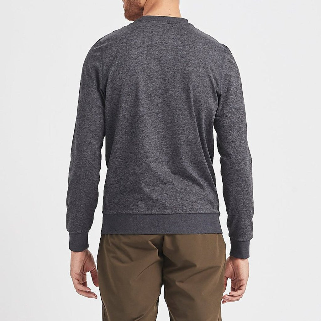 Vuori MS - Sweaters - Casual Ponto Performance Crew Pullover - Charcoal - Gotstyle The Menswear Store