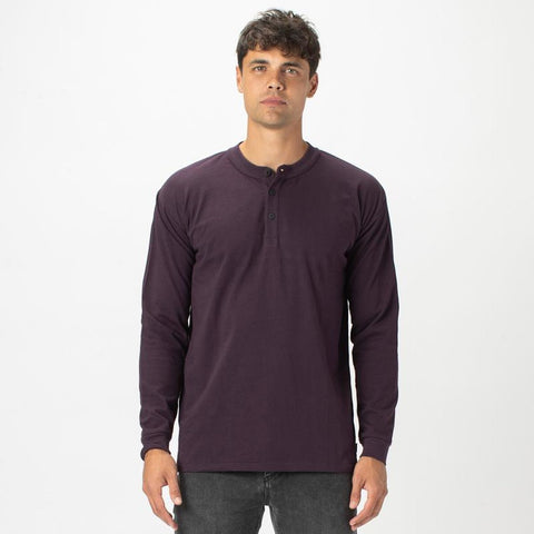 Solid Long Sleeve Henley - Gotstyle The Menswear Store
