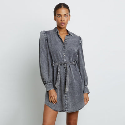 Gotstyle - Rails Dresses Chambray Acid Wash Puff Sleeve Shirt Dress